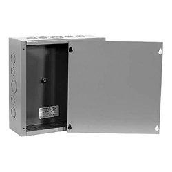 Milbank - 12124-SC1 - Milbank 12124-SC1 Pull Box, NEMA 1, Screw Cover, 12 x 12 x 4, Painted, KOs