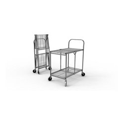 Luxor / H Wilson - WSCC-2 - Two-Shelf Collapsible Wire Utility Cart