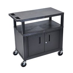 Luxor / H Wilson - EC34C-B - Luxor EC34C-B 34-Inch 3-Shelf Multi-Purpose Cabinet Cart - Black