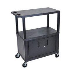 Luxor / H Wilson - LUX-MB7240WW - EC38C-B 32 x 18 Cart - Three Shelves - Cabinet