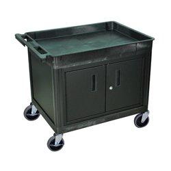 Luxor / H Wilson - TC12C-B - Luxor Tub Top Shelf Utility Cart with Cabinet