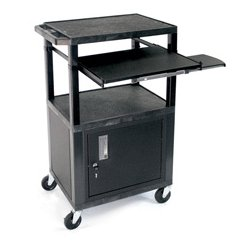 Luxor / H Wilson - WTPS42C2E - H. Wilson Utility AV Cart with Vented Side Panels