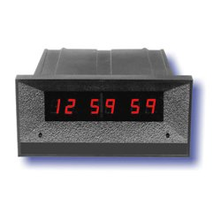 ESE - ES 172UBLACK - 12 Hour 7/16 High Red Digit Real Time Clock BLACK