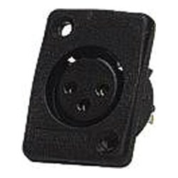 Whirlwind - WC3FQBK - 3-Pin Female XLR Panel Mount Black