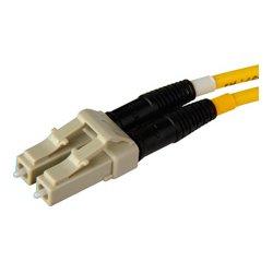 Senko - 932-251-2D3 - Senko 127um Beige MultiMode Duplex LC Fiber Connector 3mm Black Boot