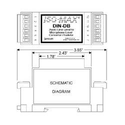Jensen Transformers - DIN-DB - 12:1 Direct Box