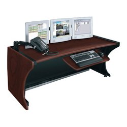 Middle Atlantic Products - LD6430DC - Middle Atlantic Products 64 LCD Monitoring Desk, DC - Rectangle Top - 63.91 Table Top Width x 32.24 Table Top Depth - Assembly Required - Dark Cherry