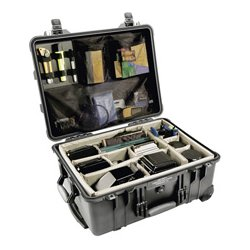 Pelican - 015500-0040-130 - Pelican Case (1550) with Divider-Olive Green