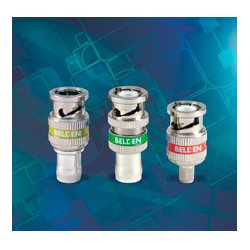 Belden / CDT - 1855ABHDL - Belden 1855ABHDL 1-Piece Locking 22-24 AWG BNC HD Connector