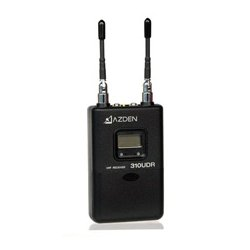 Azden - 310UDR - Azden 310UDR UHF Diversity Wireless Single Channel Receiver - 566.13 MHz to 589.88 MHz Operating Frequency - 50 Hz to 15 kHz Frequency Response