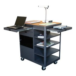 Marvel Office Furniture - MVCDA3624OKDT - Multi-Media Cart with Acrylic Door - Oak