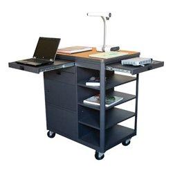 Marvel Office Furniture - MVCDM3624OKDT - Multi-Media Cart with Steel Door - Oak