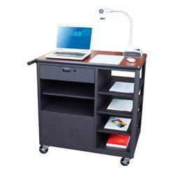 Marvel Office Furniture - MVCSE3624CHDT - Presenter Mobile Presentation Cart - Cherry