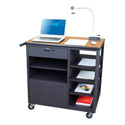 Marvel Office Furniture - MVCSE3624OKDT - Presenter Mobile Presentation Cart - Oak