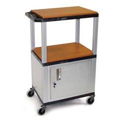 Luxor / H Wilson - WT2642C4E-N - H. Wilson Utility AV Cart (Nickel Legs and Cabinet)