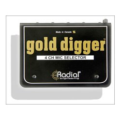 Radial Engineering - RAD-GOLDDIGGER - Radial Gold Digger Microphone Selector