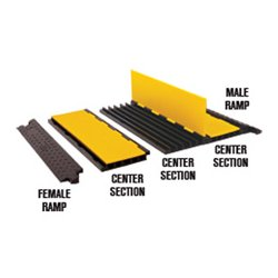 Checkers Industrial - YJ5-125-AMS-F-B - Each Cable Protector Yellow Ja