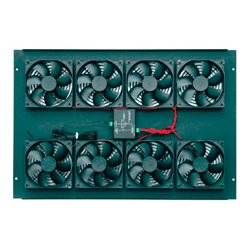 Middle Atlantic Products - BGR-552FT-FC - Middle Atlantic Products BGR-552FT-FC Cooling Fan - 8 x 552 CFM - Steel