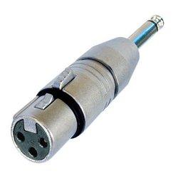 Neutrik - NA2FP - Neutrik NA2FP 3 pole XLR female - Mono 1-4 plug (Tip Sleeve contact)