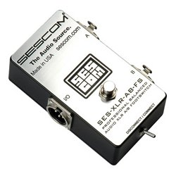 Sescom - SES-XLR-AB-FS - Sescom SES-XLR-AB-FS Balanced XLR A-B Passive Foot Switch with Disconn