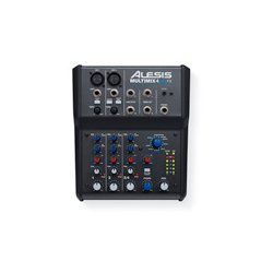 Alesis - 4MMUSBFX - Alesis MultiMix 4 USB FX 4-Channel Mixer with Effects and USB Audio Interface