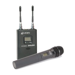 Azden - 310HT - Azden UHF Diversity Wireless Microphone System - 566.13 MHz to 589.88 MHz Operating Frequency - 50 Hz to 15 kHz Frequency Response - 300 ft Operating Range