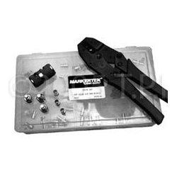 TecNec - 2KIT - 75Ohm BNC Crimp Kit w/50 2-Piece BNCs Crimper Stripper & Case