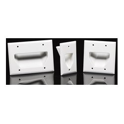 DataComm - 45-0003-IV - Datacomm 3 Gang Recessed Low Voltage Cable Plate - Ivory