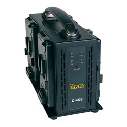 ikan - C-4KS - ikan Quad Pro Battery Charger for V-Mount - 120 V AC, 230 V AC Input - 16.8 V DC Output - AC Plug - 4 - Proprietary Battery Size