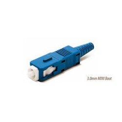 Senko - 254-199-6L1 - Senko Low Loss 125um Singlemode SC Fiber Connector with Blue 3mm Boot