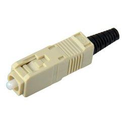 Senko - 254-291-5L2 - Senko UPC - 127um MultiMode 3mm SC Connector - Aqua - Black Boot