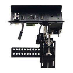Kramer Electronics - TBUS-203XL(B) - Kramer Pop-Up Table Mount Multi-Connection Solution - 120 V AC / 5 A, 230 V AC Rectangular Desktop