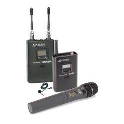 Azden - 310LH - Azden UHF Diversity Wireless Microphone System - 566.13 MHz to 589.88 MHz Operating Frequency - 50 Hz to 15 kHz Frequency Response - 300 ft Operating Range