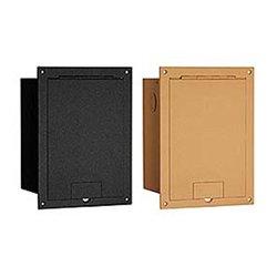 FSR - FL-1300-BLK - Floor Box with Hinged Door (Black)