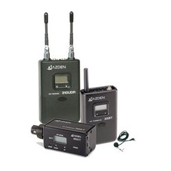 Azden - 310LX - Azden UHF Diversity Wireless Microphone System - 566.13 MHz to 589.88 MHz Operating Frequency - 50 Hz to 15 kHz Frequency Response - 300 ft Operating Range