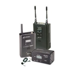 Azden - 330LX - Azden UHF Dual-Channel Wireless System - 566.13 MHz to 589.88 MHz Operating Frequency - 50 Hz to 15 kHz Frequency Response - 300 ft Operating Range