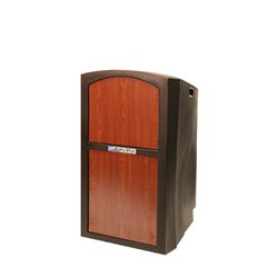 AmpliVox - SN3250-OK - Amplivox SN3250-MO Pinnacle Non-Sound Full Height Lectern with Medium Oak Panel
