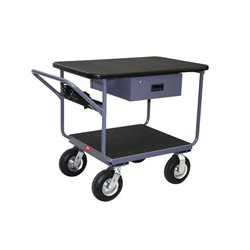 Jamco Products - TW236-N8 - Jamco 24x36 High Tech Tubular Frame Instrument Work Center Cart with Drawer and Power Strip