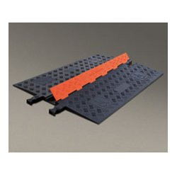 Checkers Industrial - GD1X75-O/B - Guard Dog Low Profile-1 Channel with ADA Compliant Ramps - 3 Foot - Orange Lid/Black Base