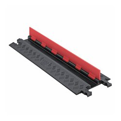 Checkers Industrial - GD1X75-ST-O/B - Guard Dog Low Profile-1 Channel w/Standard Ramps - 3 Foot - Orange Lid/Black Base