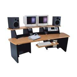 Omnirax - FRC12-PB - Force 12 Audio Video Workstation (Pewter Brush)