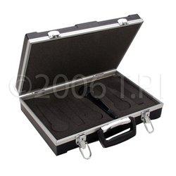 JBL - GM-6-PE - ATA Molded 6 Slot Microphone Briefcase