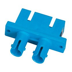 Camplex - FOA-ST-SC-DM-PF - ST to SC Coupler Multimode Duplex Flange Bronze Sleeve Plastic Body
