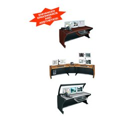 Middle Atlantic Products - LD-4830PS - Middle Atlantic Products LCD Monitoring/Command Desk - 30 Height x 48 Width - Assembly Required - Pepperstone