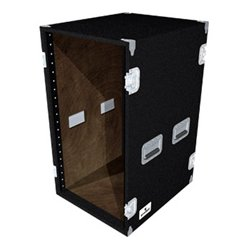 Grundorf - AR-20EXDRB - Grundorf AR-20EXDR 20 Space Recessed Hardware Equipment Rack (Black Carpet)