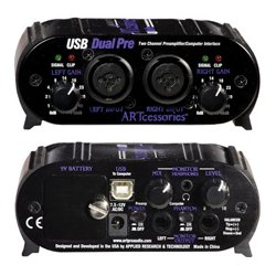 Applied Research & Technology - USBDUALPREPS - ART USBDUALPRE 2 Channel Preamp With XLR/TRS Combo Jacks & USB