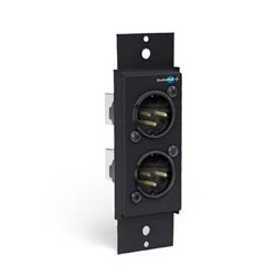 Radio Systems - SH-2XLRM - Dual XLR Male Adapter Mono/Stereo Wall Plate - Two male XLR connectors