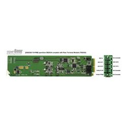 Ward-Beck Systems - D6203/A110-RM - Ward-Beck Analog-to-AES/EBU Digital Audio Converter plus T6303A Rear Module for 110 Ohm - OpenGear Series