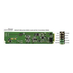 Ward-Beck Systems - D6203A/75-RM - Ward-Beck Analog-to-AES/EBU Digital Audio Converter plus T6302A Rear Module for 75 Ohm - OpenGear Series