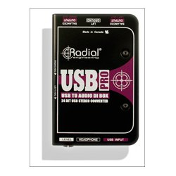 Radial Engineering - RAD-USB-PRO - Radial USB-PRO DI for Laptops - Level Control - Mono Summing - Headphone Out